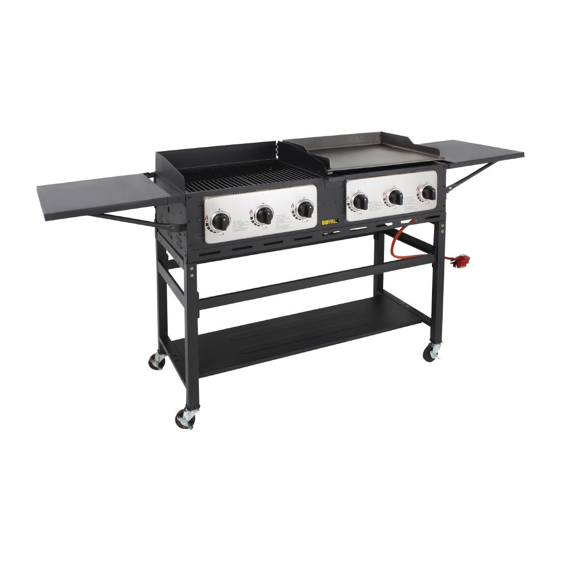 Image of Buffalo 6 Burner Combi BBQ Grill and Griddle