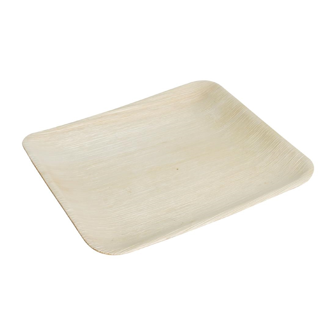 Fiesta Green Biodegradable Palm Leaf Square Plates 200mm Pack of 100