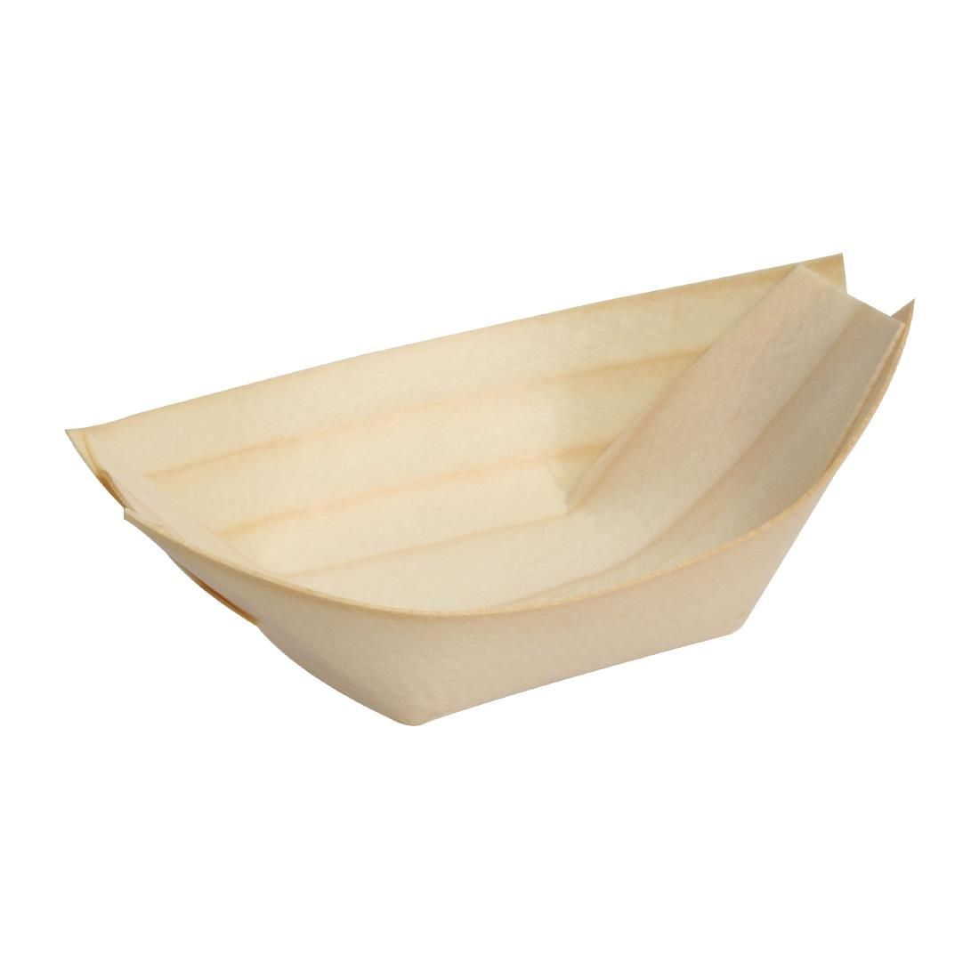 Fiesta Green Biodegradable Birch Wood Boats 250mm Pack of 100