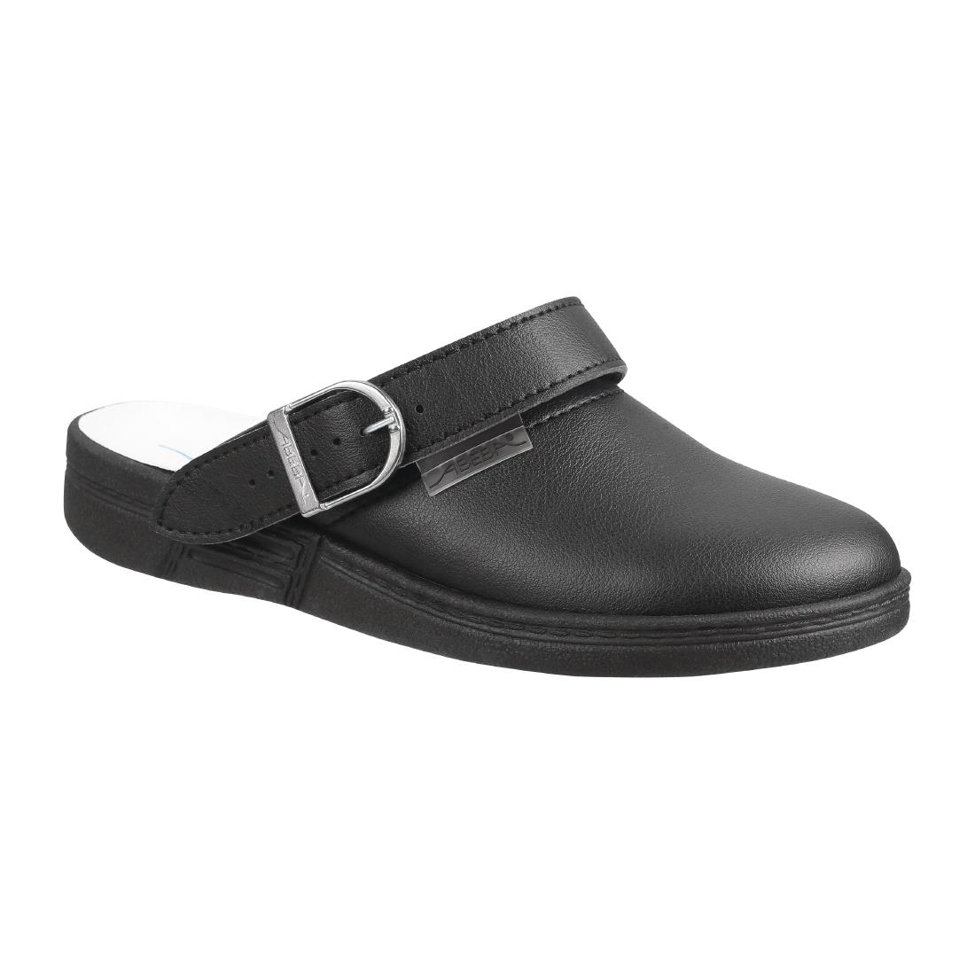 Image of Abeba Microfibre Clogs Black Size 36