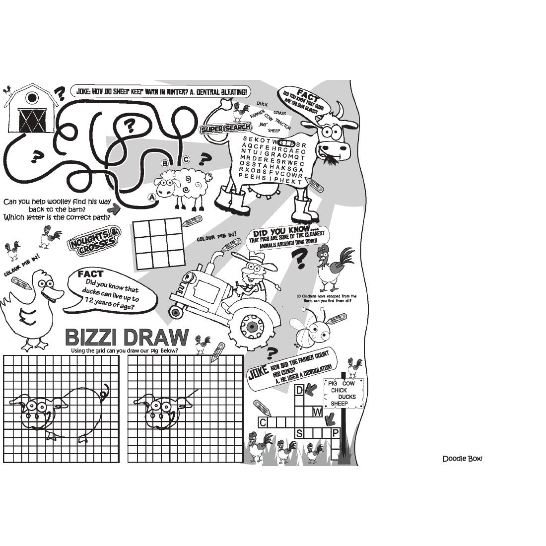Details about Crafti's Kids Activity Sheet in 4 Colour Assorted Designs -  Pack of 500