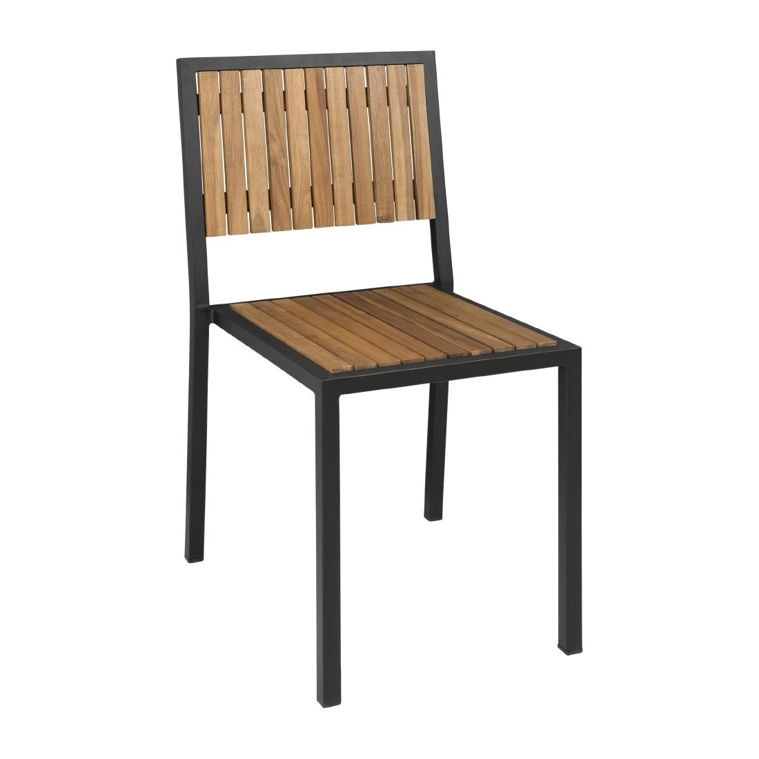 Bolero steel acacia sidechair pack