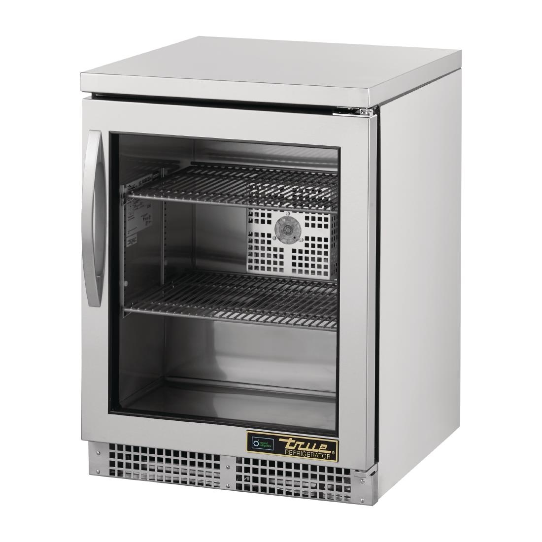 True 1 Glass Hinged Door Under Counter Fridge TUC-24G-HC-FGD01