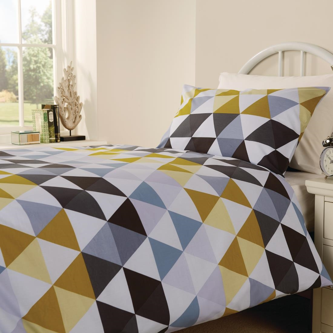 Click to view product details and reviews for Mitre Essentials Geo Bedding Set Olive Double.