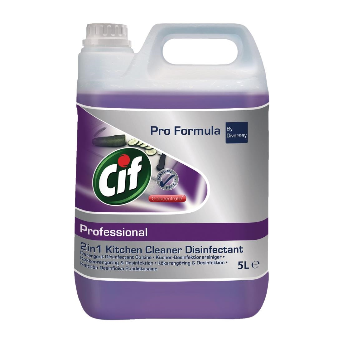 Image of CIF Pro Formula 2-in-1 Cleaner and Disinfectant Concentrate 5Ltr (2 Pack) Pack of 2