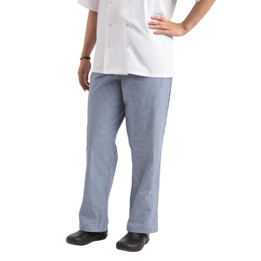 Click to view product details and reviews for Whites Easyfit Trousers Teflon Blue Check L.