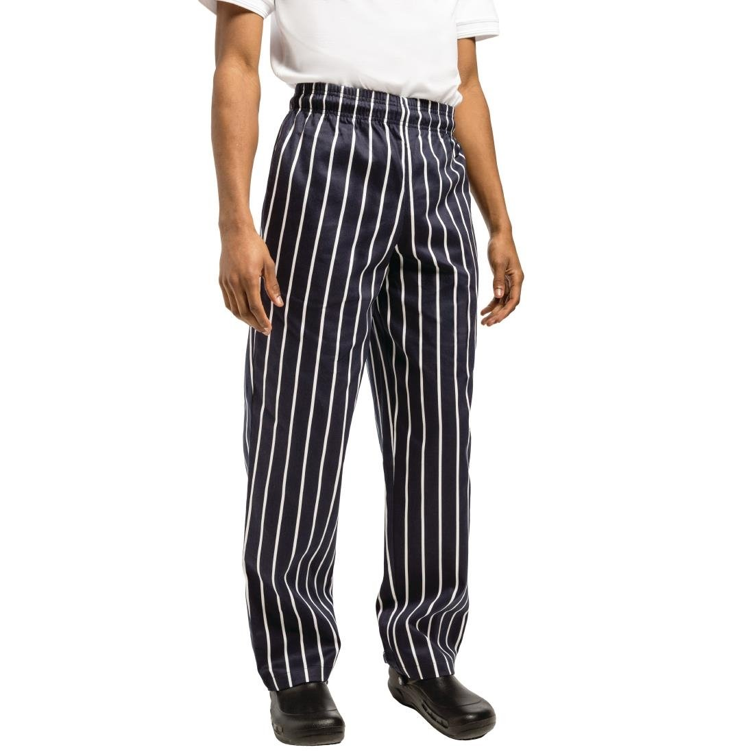 Click to view product details and reviews for Chef Works Unisex Easyfit Chefs Trousers Butchers Stripe L.