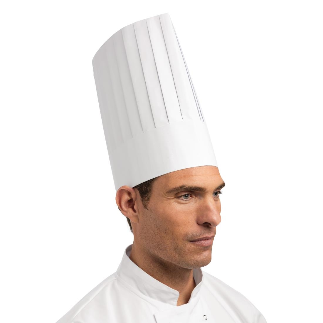 Image of eGreen Disposable Chefs Hat White (Pack of 50) Pack of 50