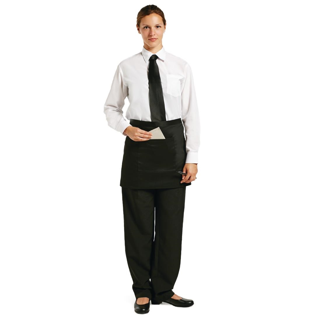 Click to view product details and reviews for Chef Works Short Bistro Apron Black.