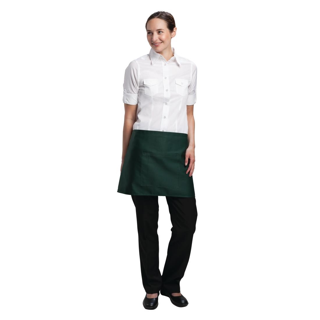 Click to view product details and reviews for Chef Works Short Bistro Apron Green.