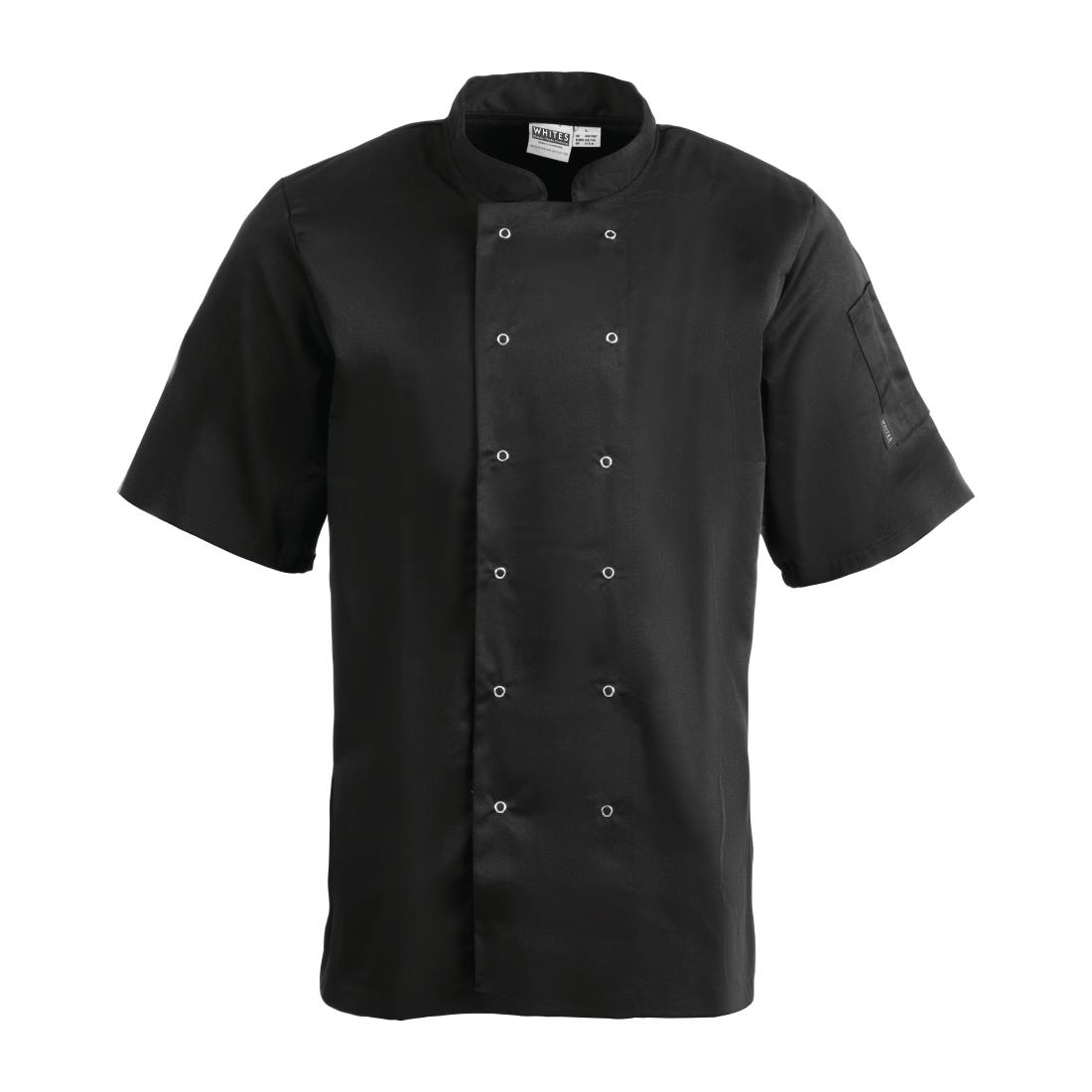 Click to view product details and reviews for Whites Vegas Unisex Chefs Jacket Short Sleeve Black L.