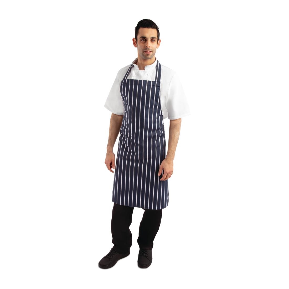 Click to view product details and reviews for Whites Butchers Apron Stripe Blue.