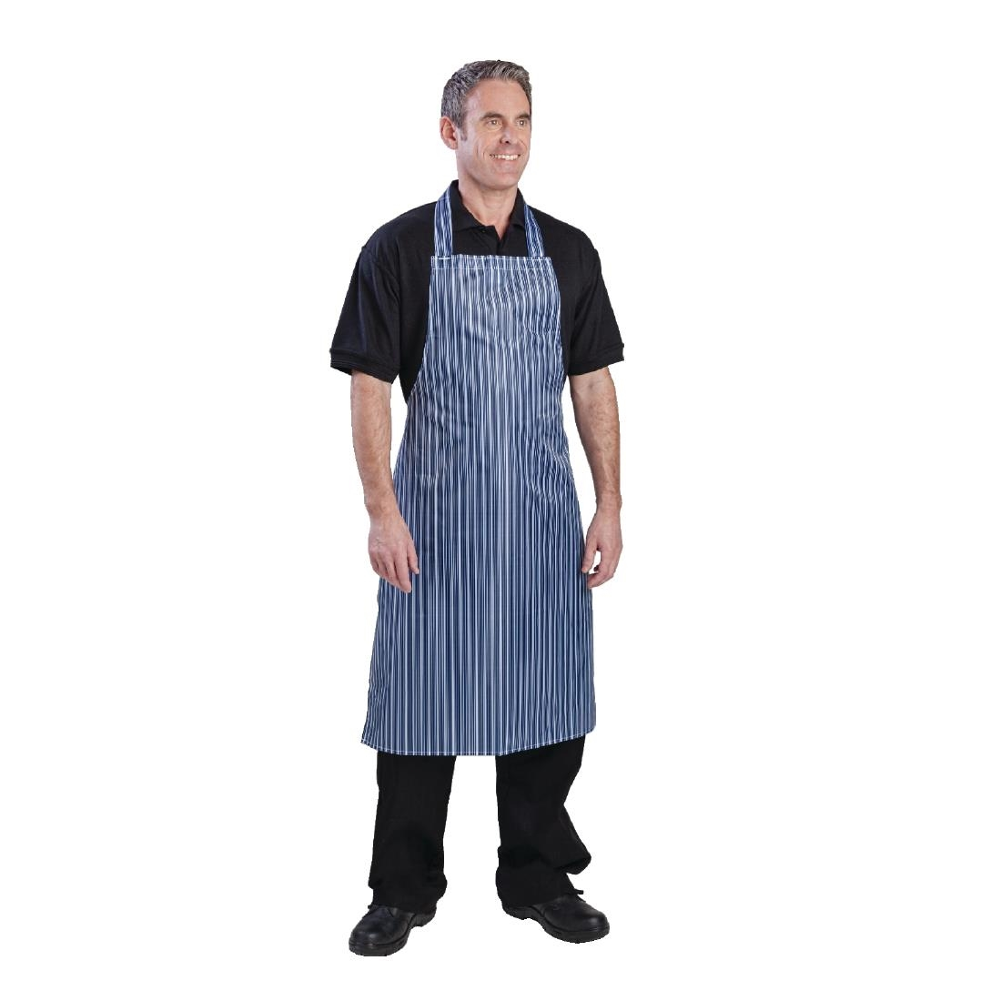 Click to view product details and reviews for Whites Waterproof Bib Apron Blue And White.