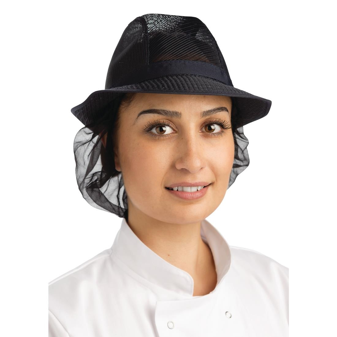 Image of Trilby Hat with Snood Navy Blue L