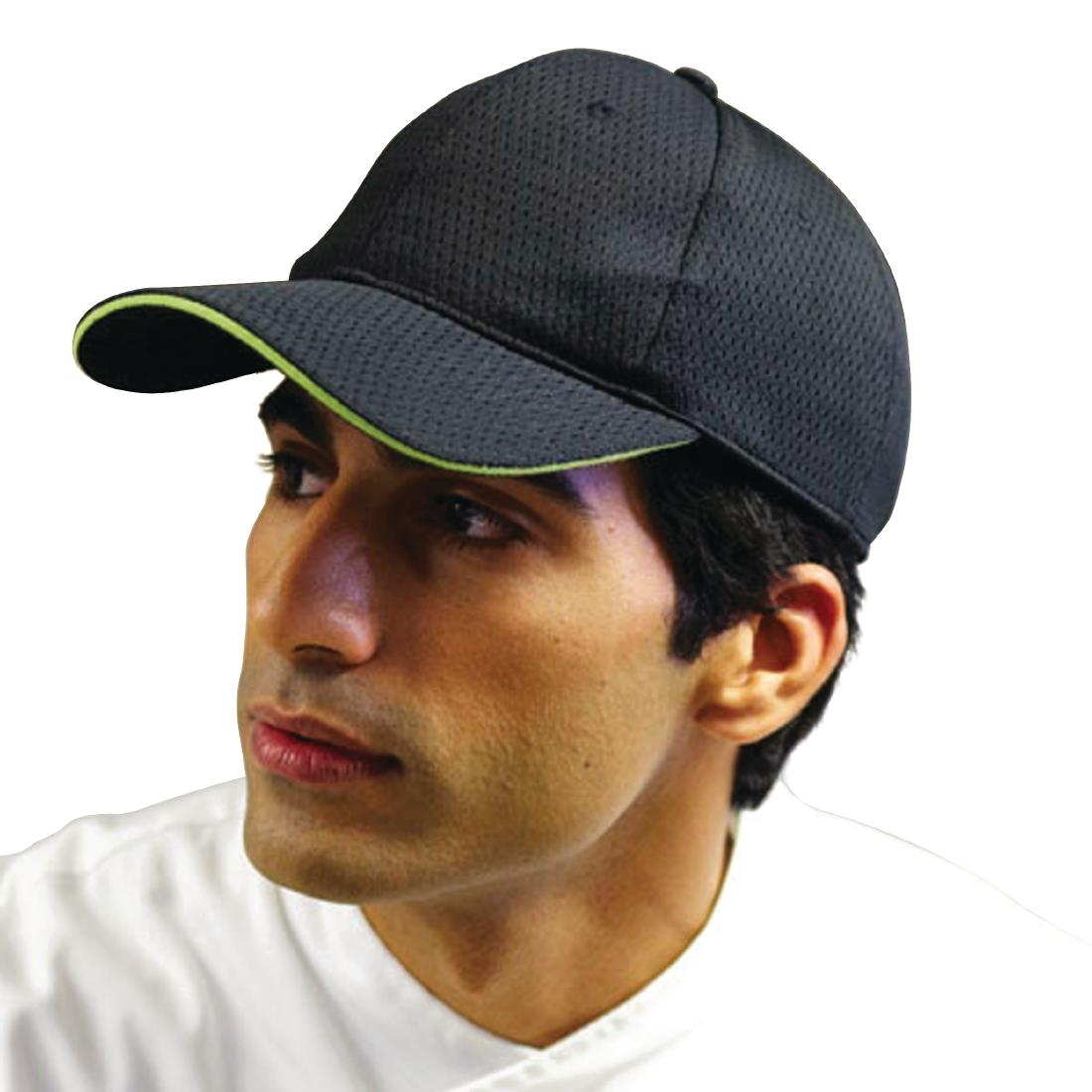 e9369c0b5 Chef Works Cool Vent Baseball Cap Black with Lime - A941 - Buy ...