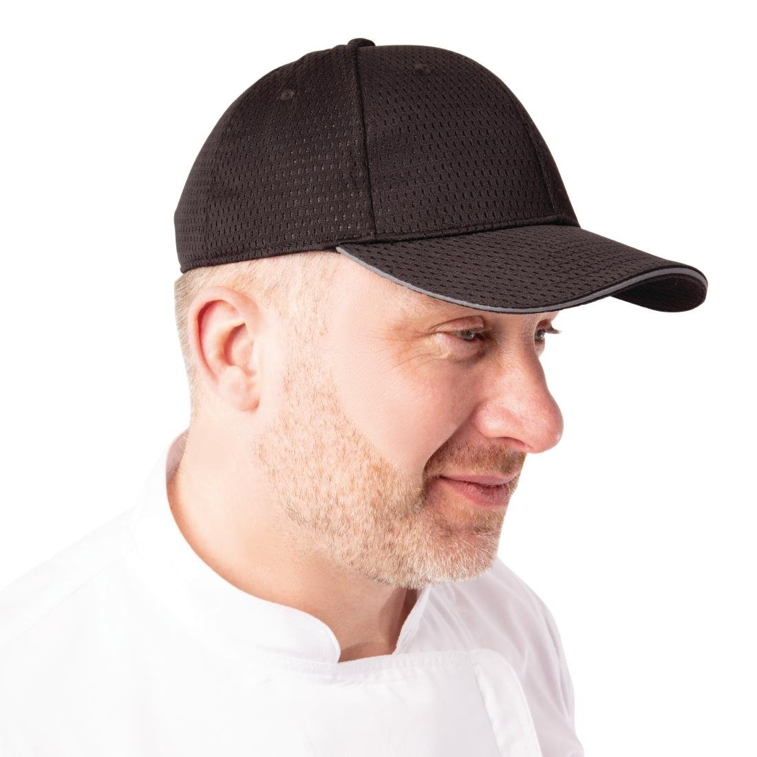 Image of Chef Works Cool Vent Baseball Cap with Grey