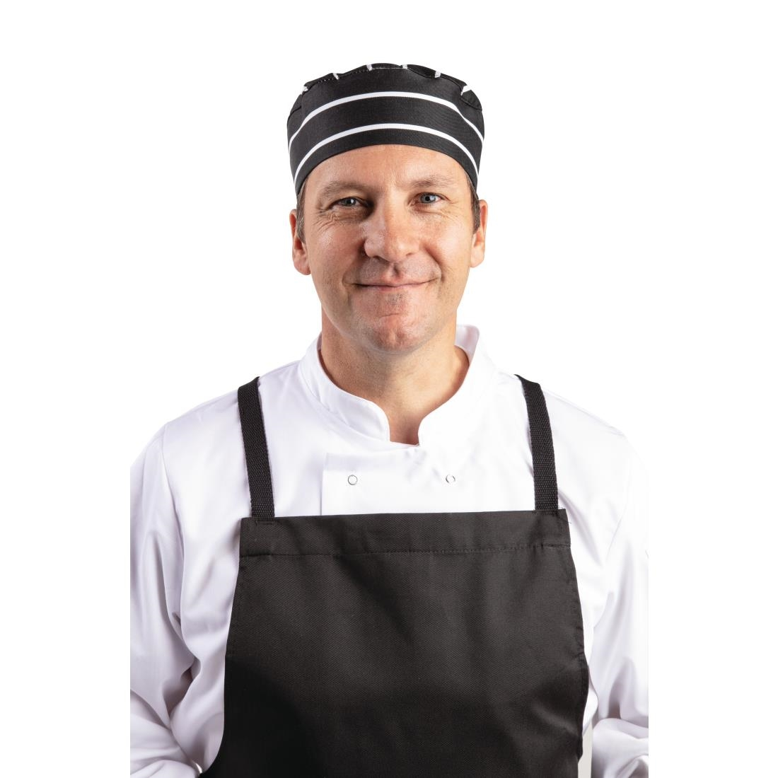 Click to view product details and reviews for Whites Skull Cap Black Butchers Stripe.