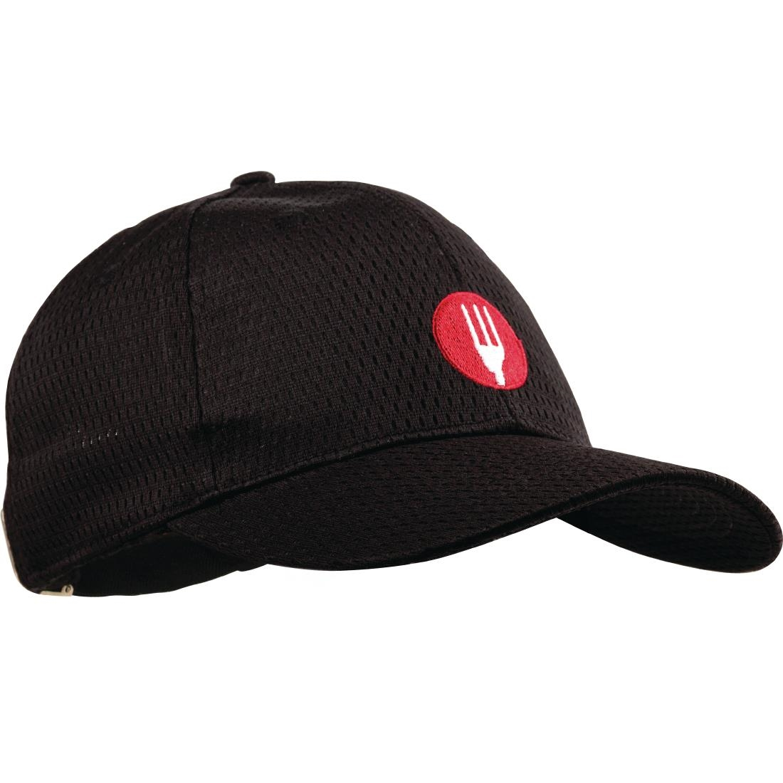 Image of Chef Works Cool Vent Baseball Cap Black
