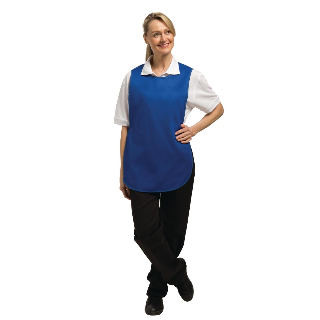 WOMENS TABARD APRON WITH POCKET CLEANING KITCHEN CATERING WORK BAR CLEANER UK