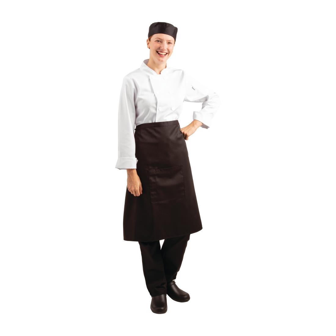Click to view product details and reviews for Regular Bistro Apron Black With Pocket.