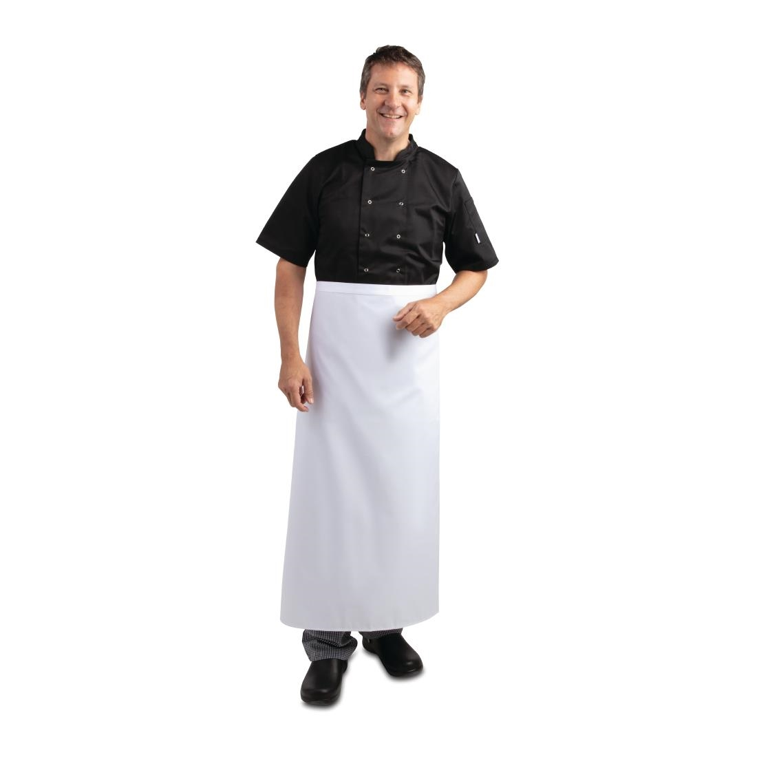 Click to view product details and reviews for Long Bistro Apron White.