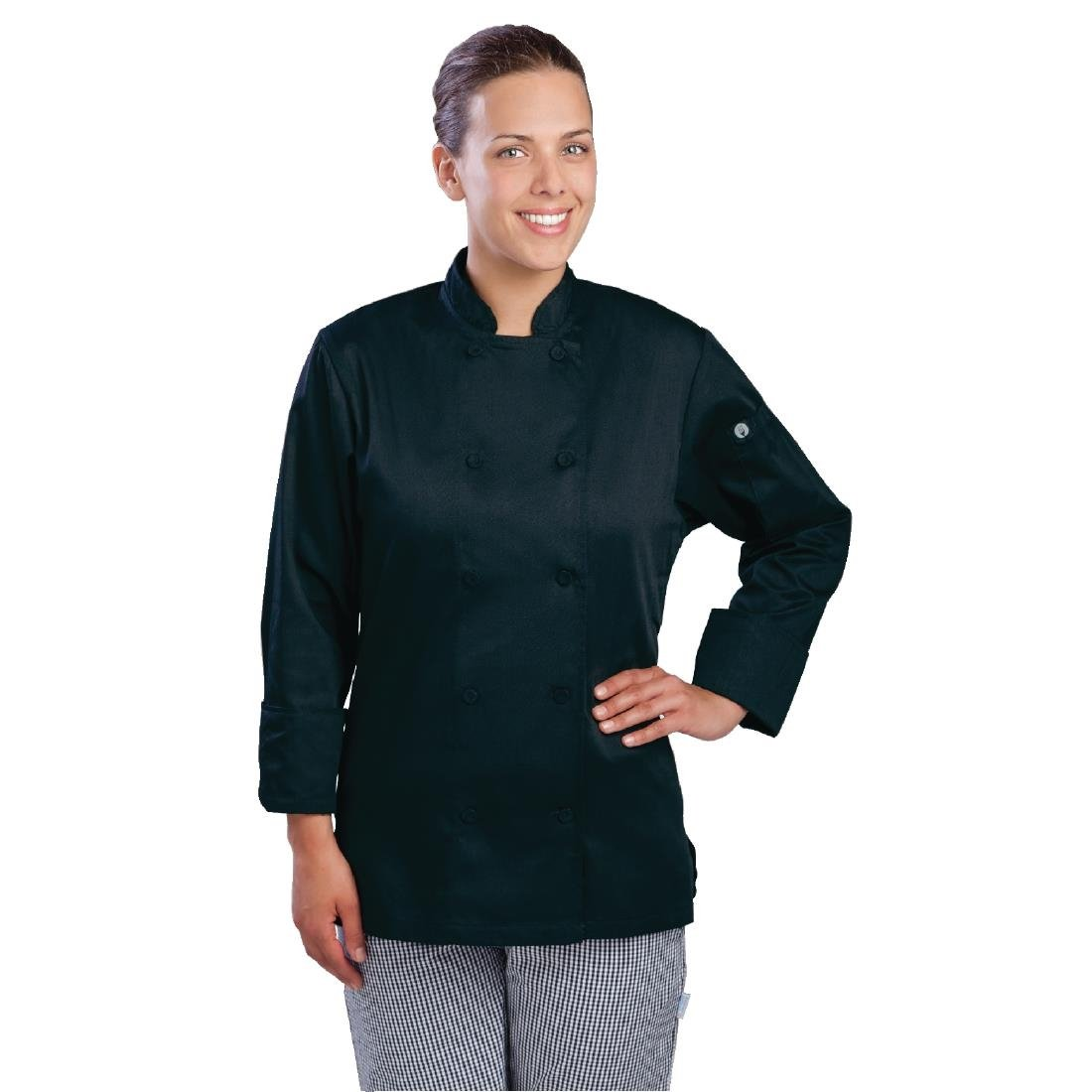 Chef Works Marbella Womens Executive Chefs Jacket Black Xs