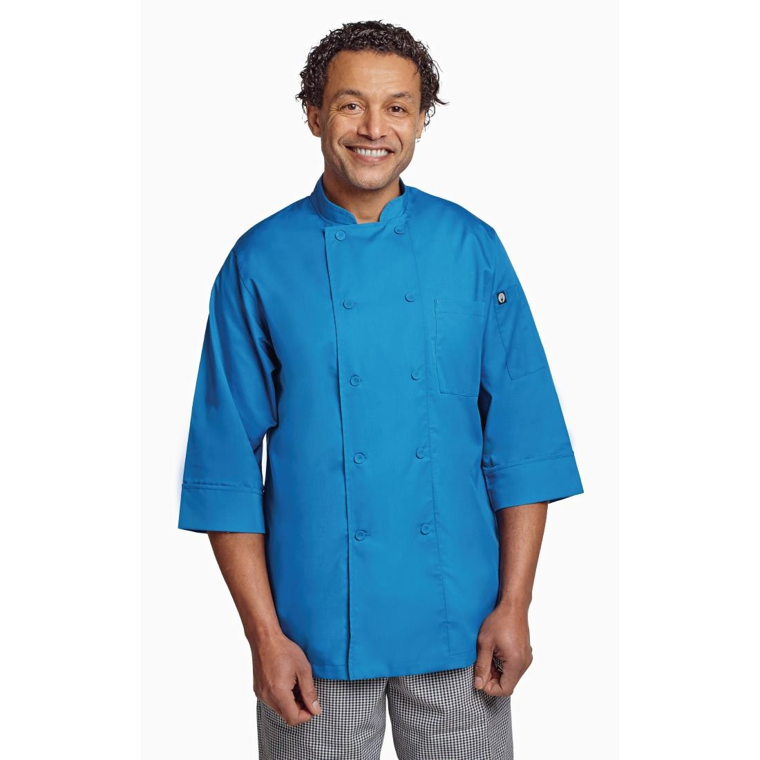 Click to view product details and reviews for Chef Works Unisex Chefs Jacket Blue L.
