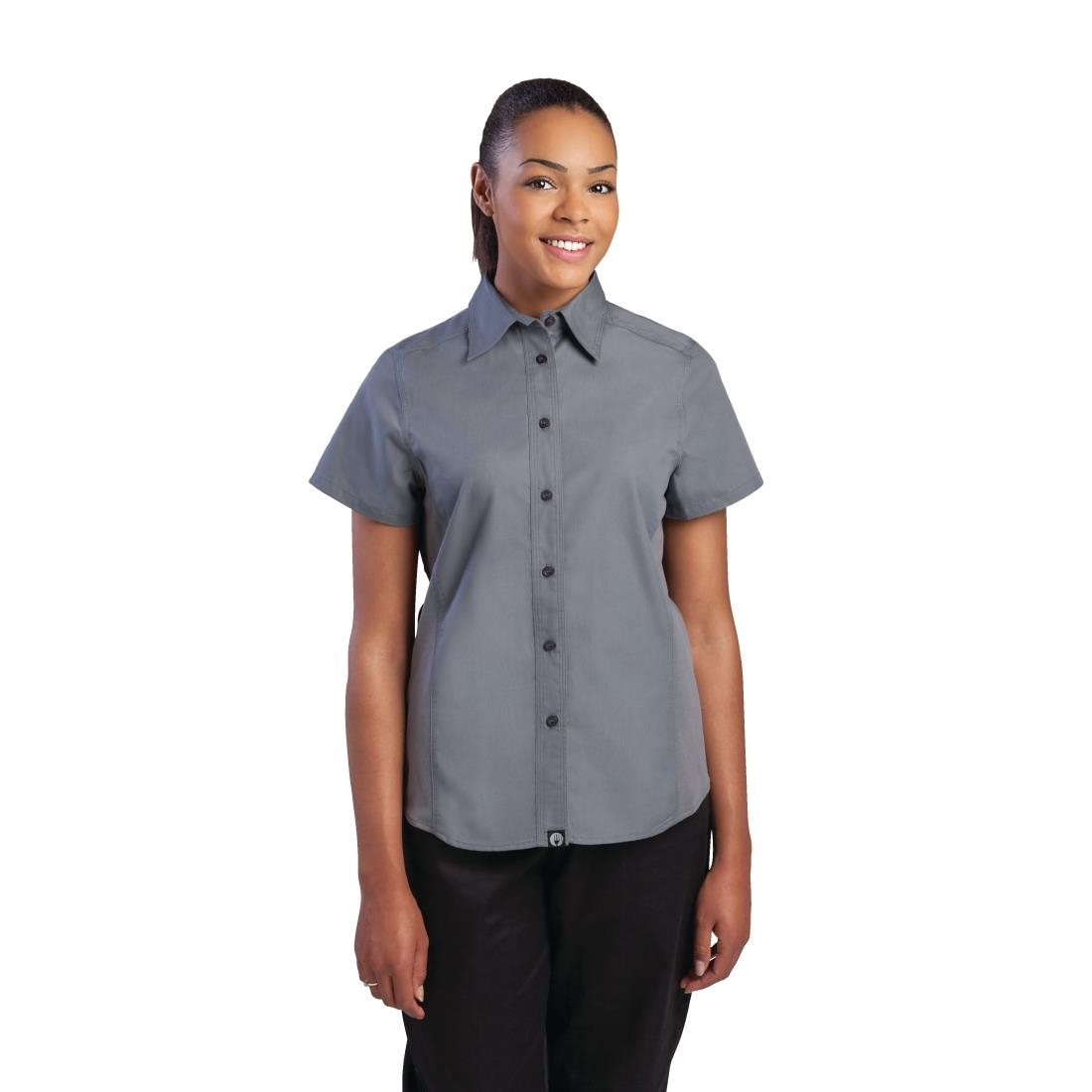 Chef Works Womens Grey Cool Vent Chef Shirt M