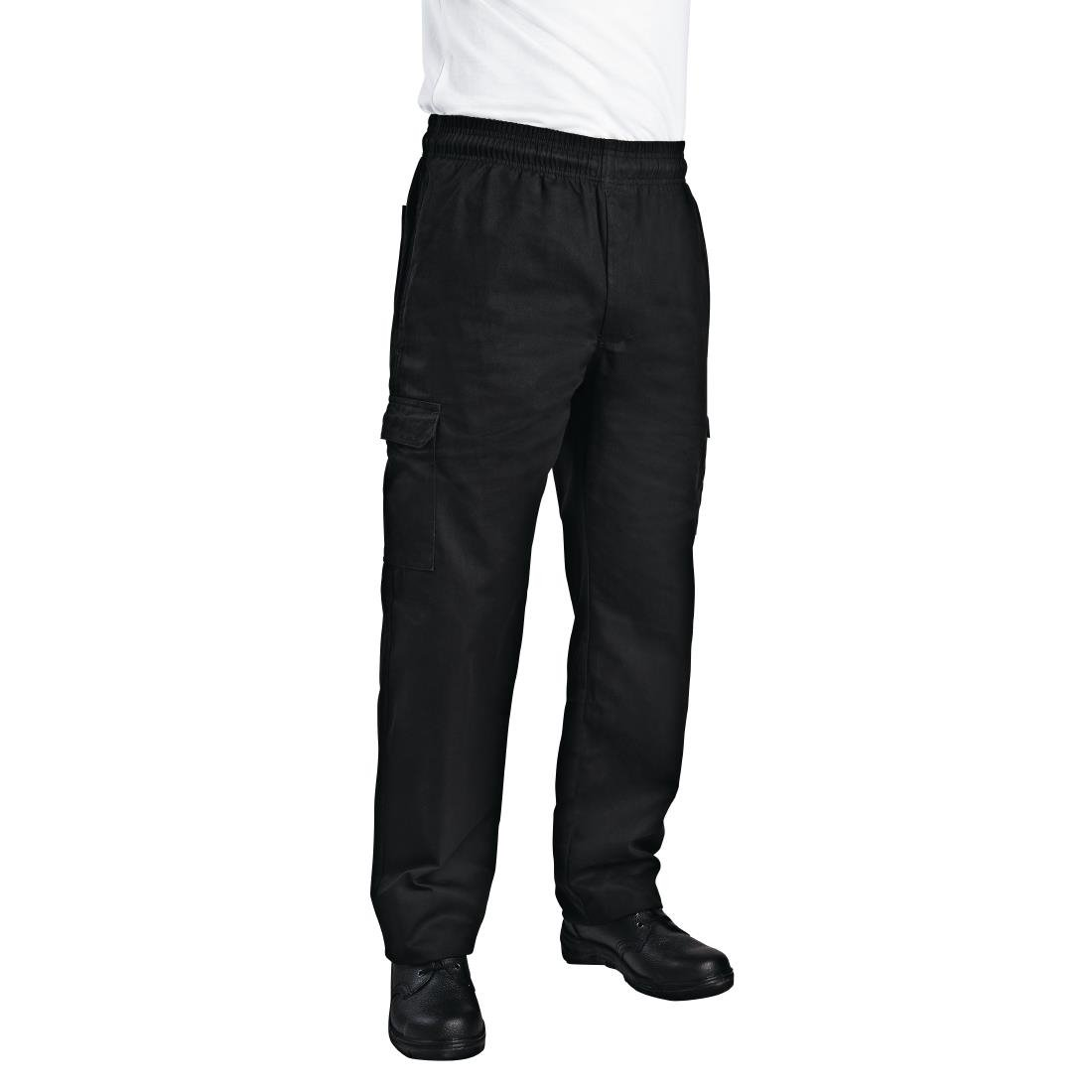 f9f580b19ce36c Chef Works Unisex Slim Fit Cargo Chefs Trousers Black - P_B222 - Buy ...