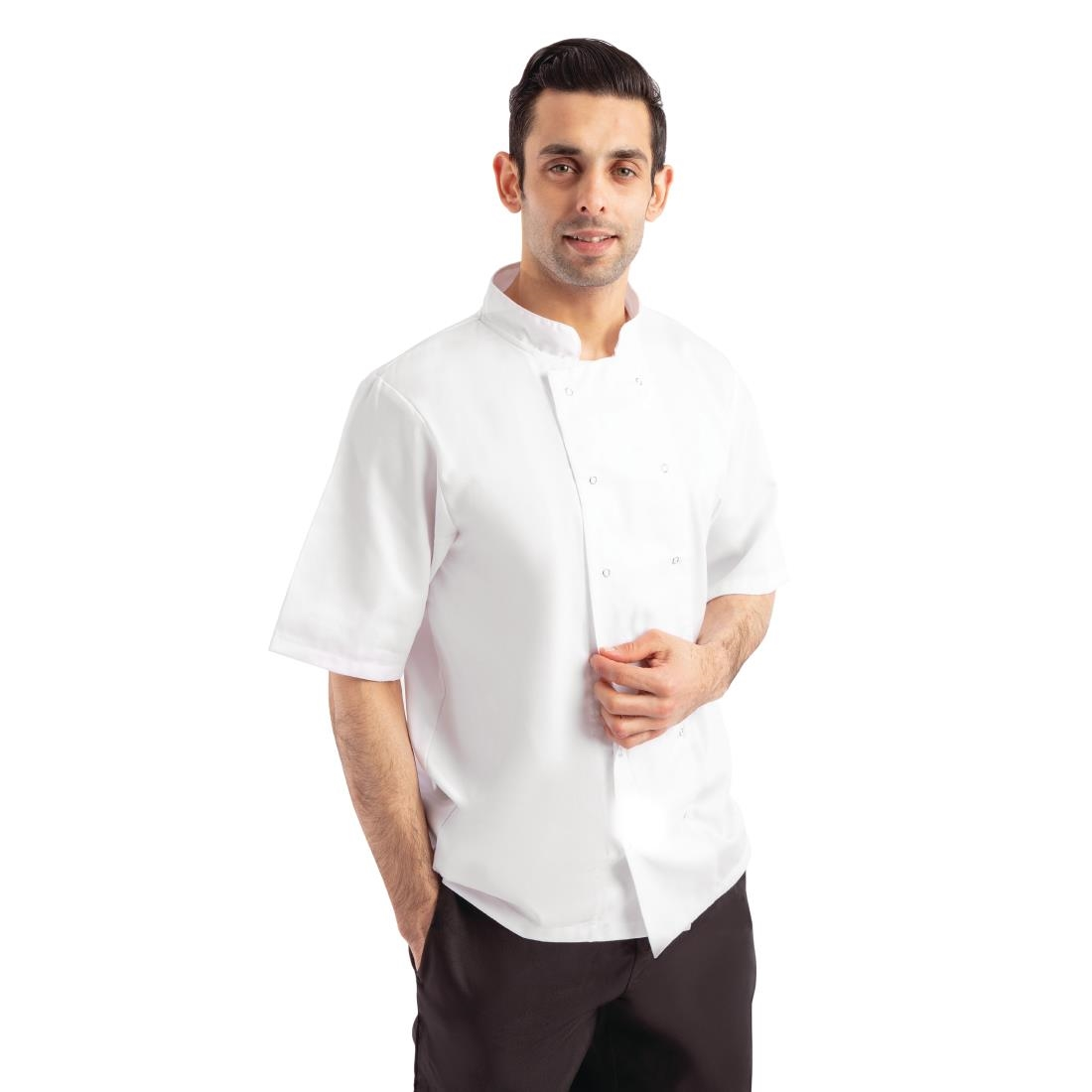 Click to view product details and reviews for Whites Boston Unisex Short Sleeve Chefs Jacket White M.