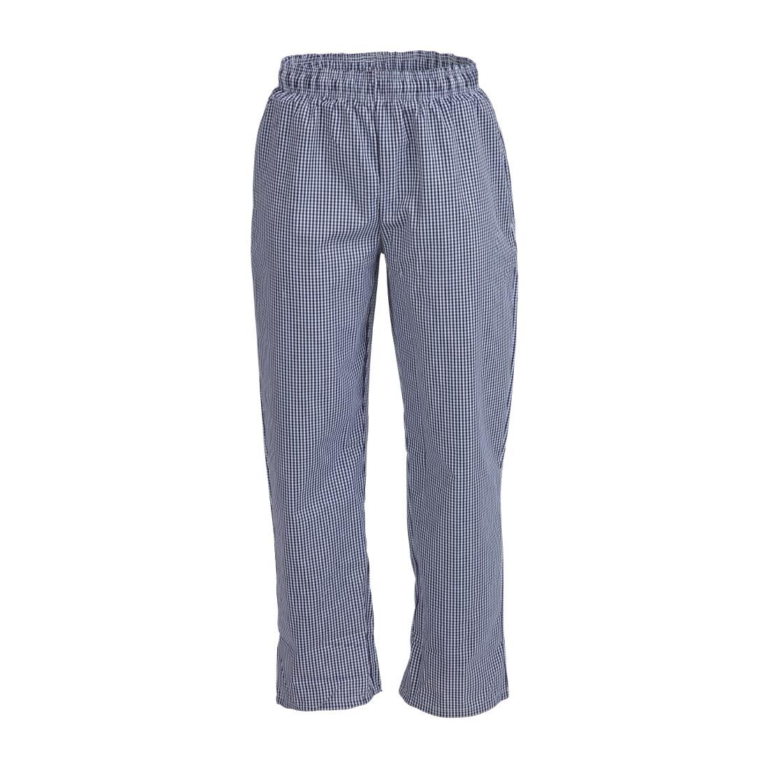 Whites Unisex Vegas Chefs Trousers Small Blue And White Check 4xl