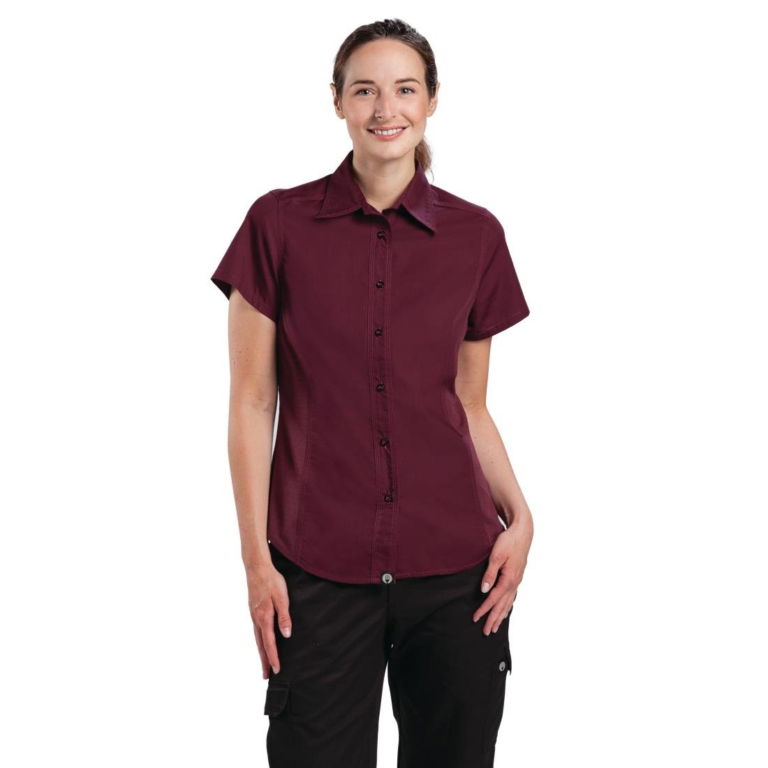 Click to view product details and reviews for Chef Works Womens Cool Vent Chefs Shirt Merlot L.
