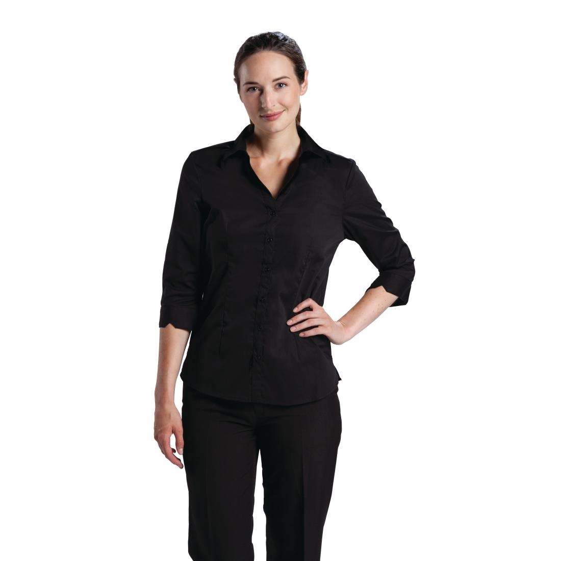 445f25333e5 Chef Works Womens Stretch Shirt Black - P B314 - Buy Online at Nisbets