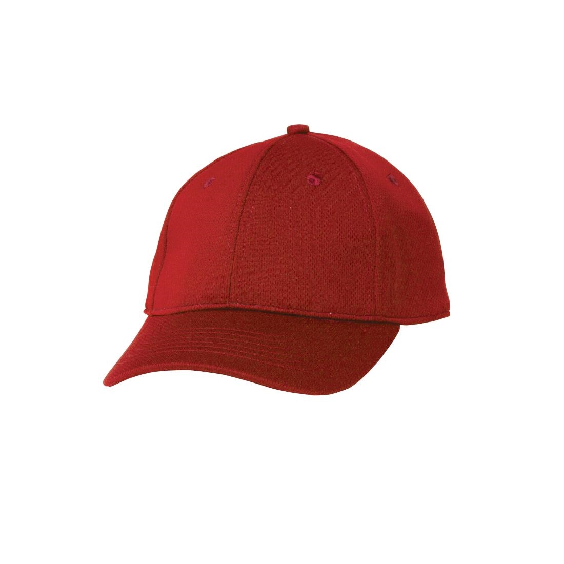 Image of Chef Works Cool Vent Baseball Cap Red