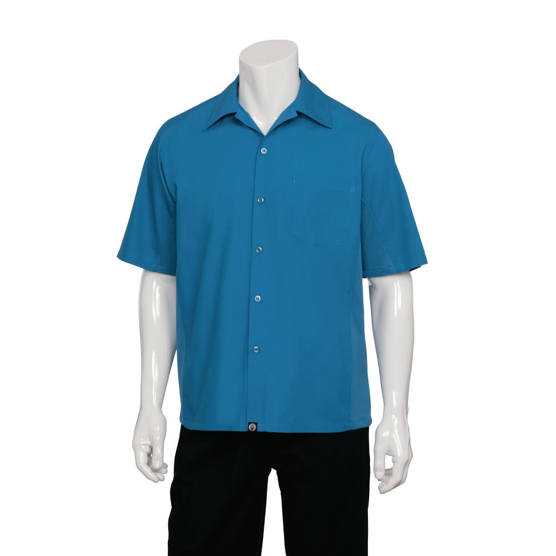 Image of Chef Works Cool Vent Chef Shirt Blue L