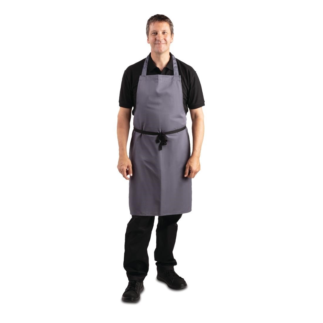 Click to view product details and reviews for Whites Polycotton Bib Apron Charcoal.