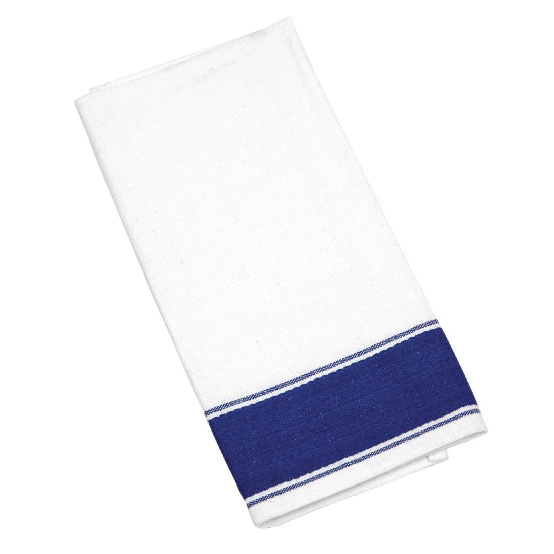 Image of Olympia Gastro Napkins with Blue Border (Pack of 10) Pack of 10