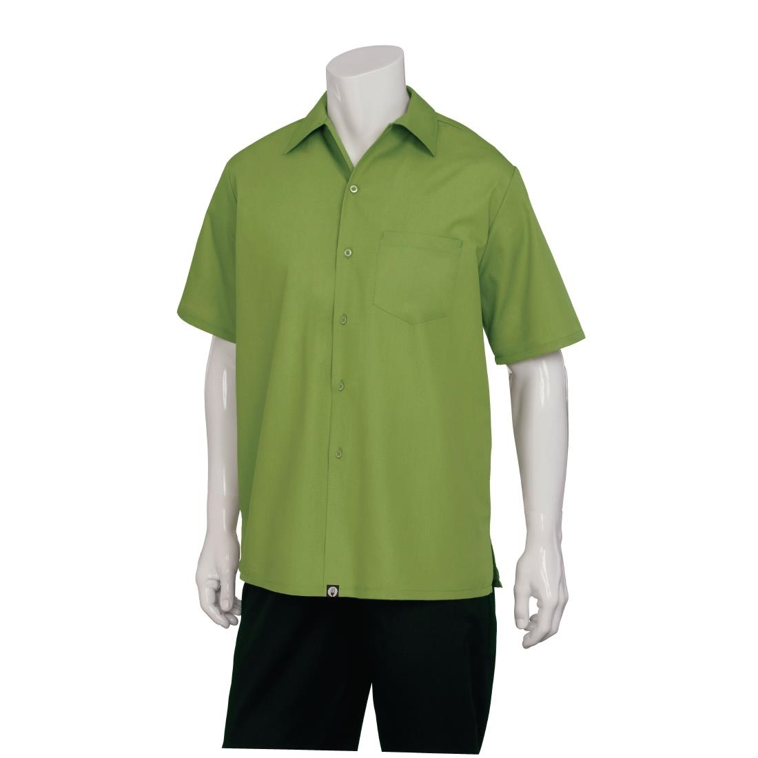 Image of Chef Works Cafe Shirt Lime 2XL