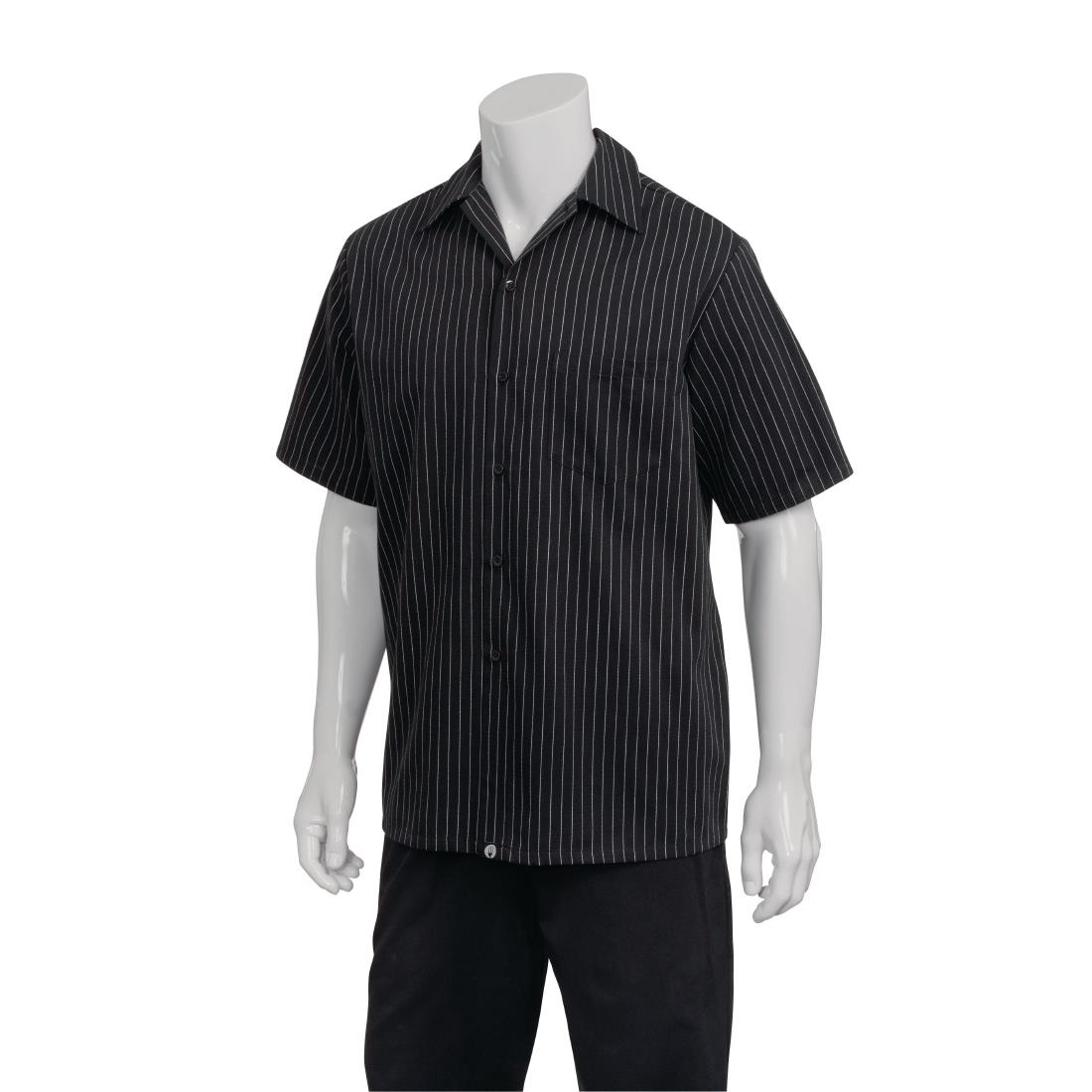 Image of Chef Works Pinstripe Cook Shirt 2XL