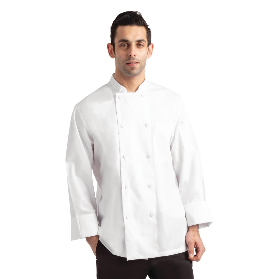 Click to view product details and reviews for Chef Works Calgary Long Sleeve Cool Vent Unisex Chefs Jacket White S.