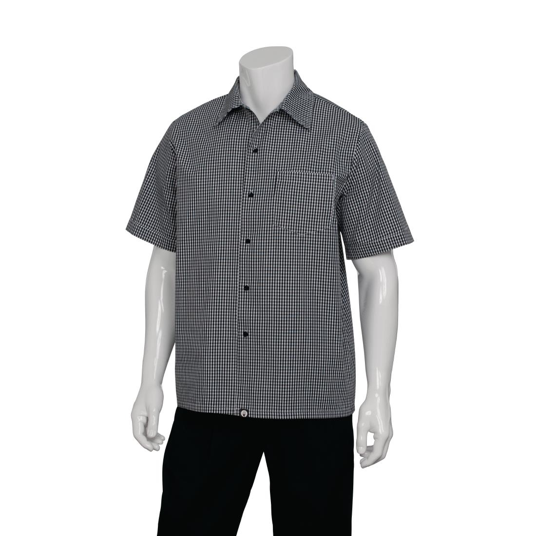 Image of Chef Works Black and White Check Cook Shirt 2XL