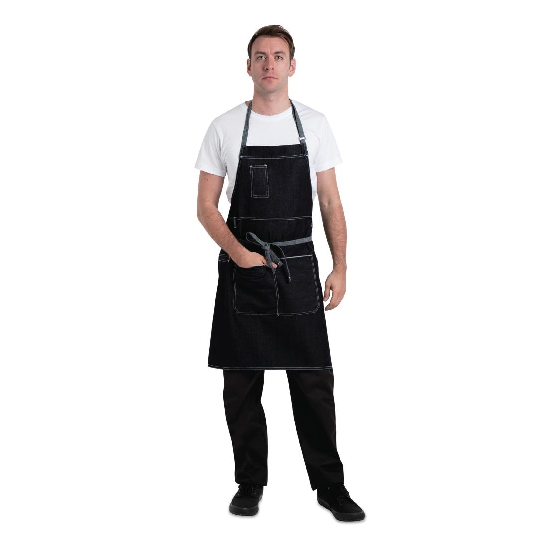Click to view product details and reviews for Chef Works Urban Bronx Bib Apron Indigo.