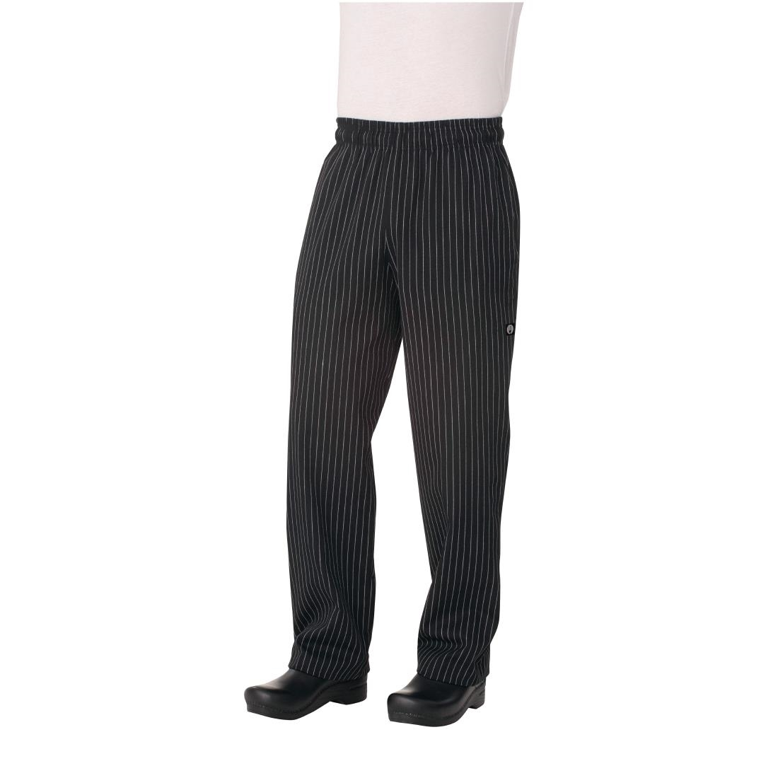 Image of Chef Works Designer Baggy Chefs Trousers Pinstripe 2XL