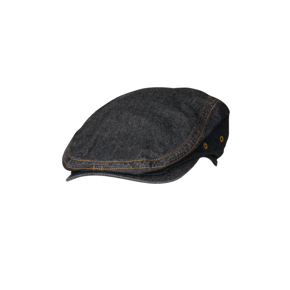 Image of Chef Works Urban Manhattan Flat Cap Black L-XL