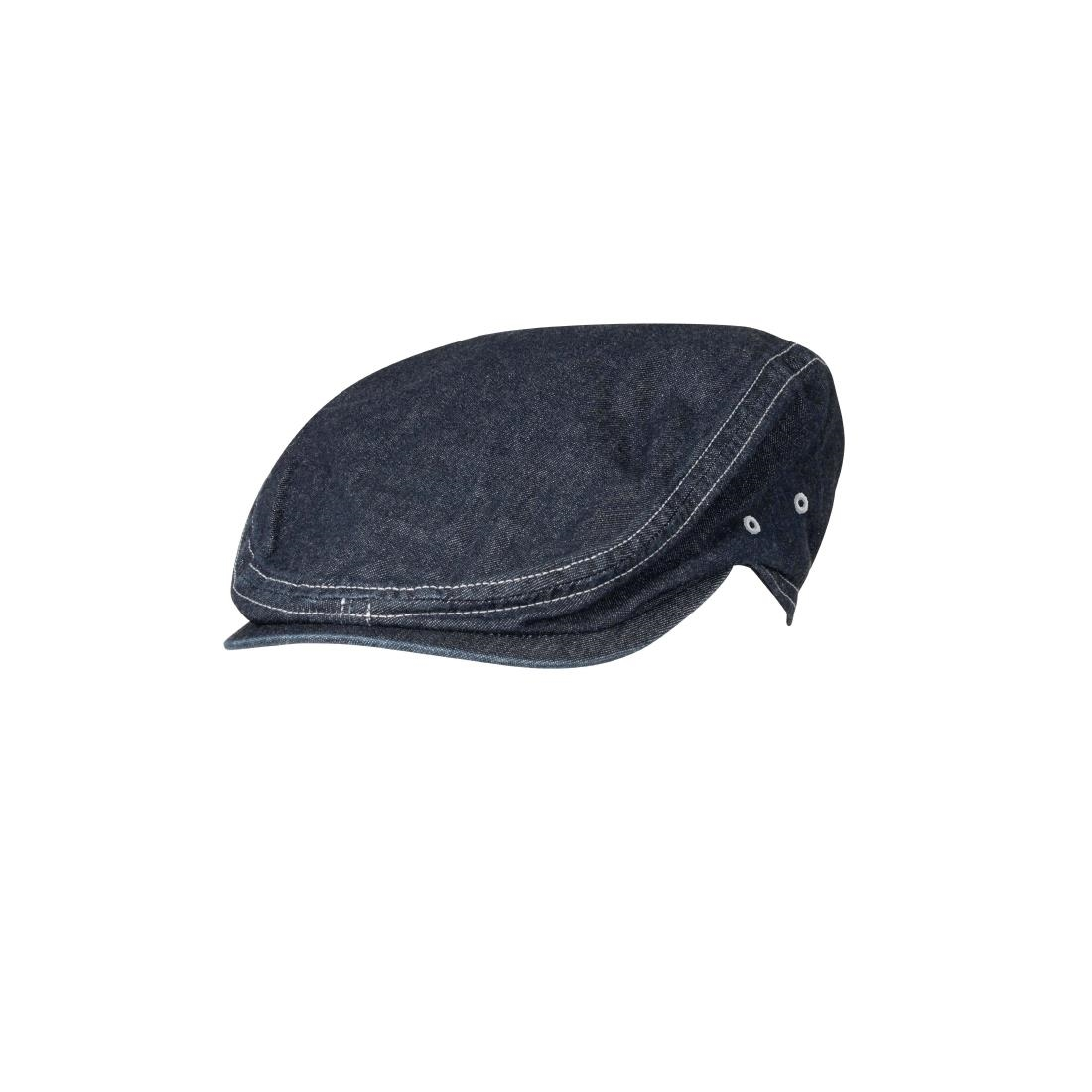 Image of Chef Works Manhattan Flat Cap Indigo S-M