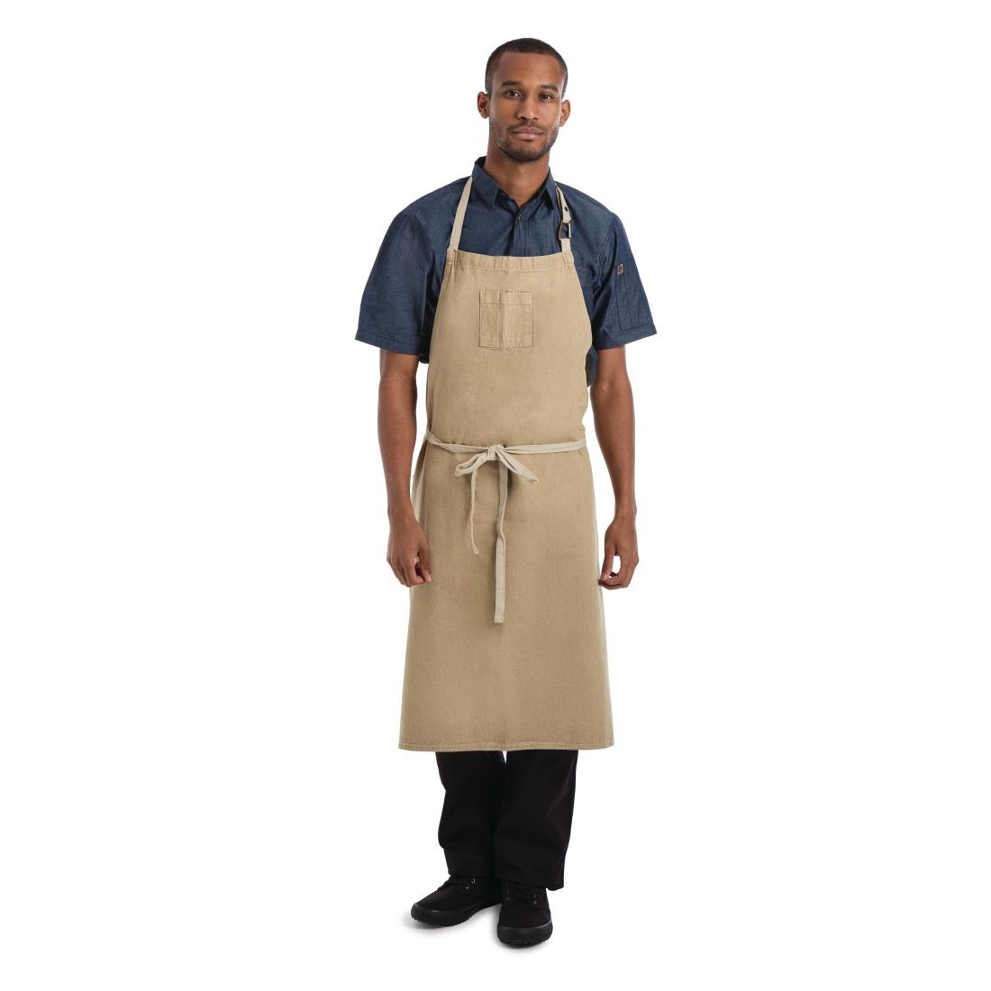 Click to view product details and reviews for Chef Works Urban Austin Denim Wide Bib Apron Natural.