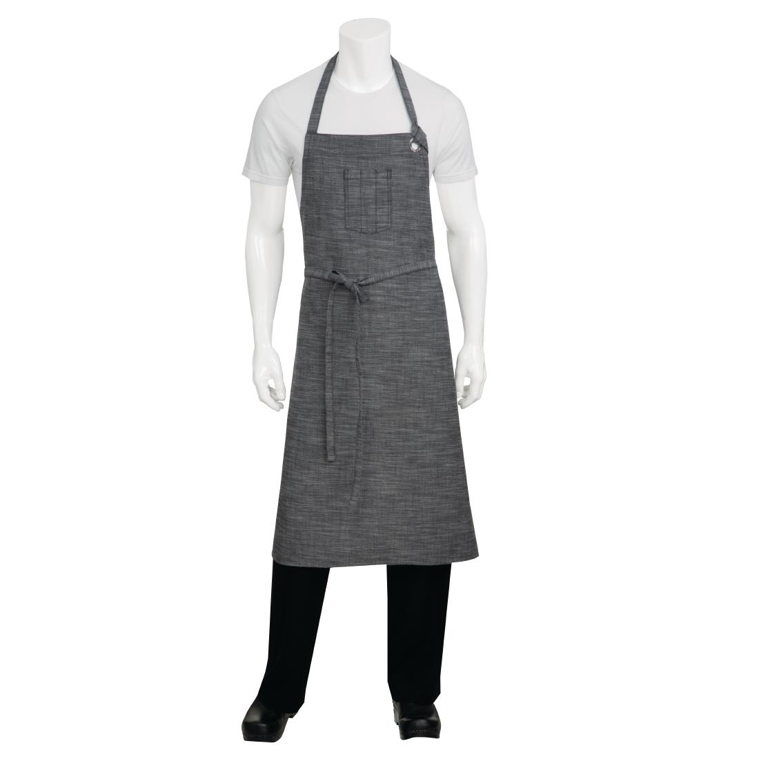 Click to view product details and reviews for Chef Works Urban Corvallis Crosshatch Wide Bib Apron Black And Steel Grey.