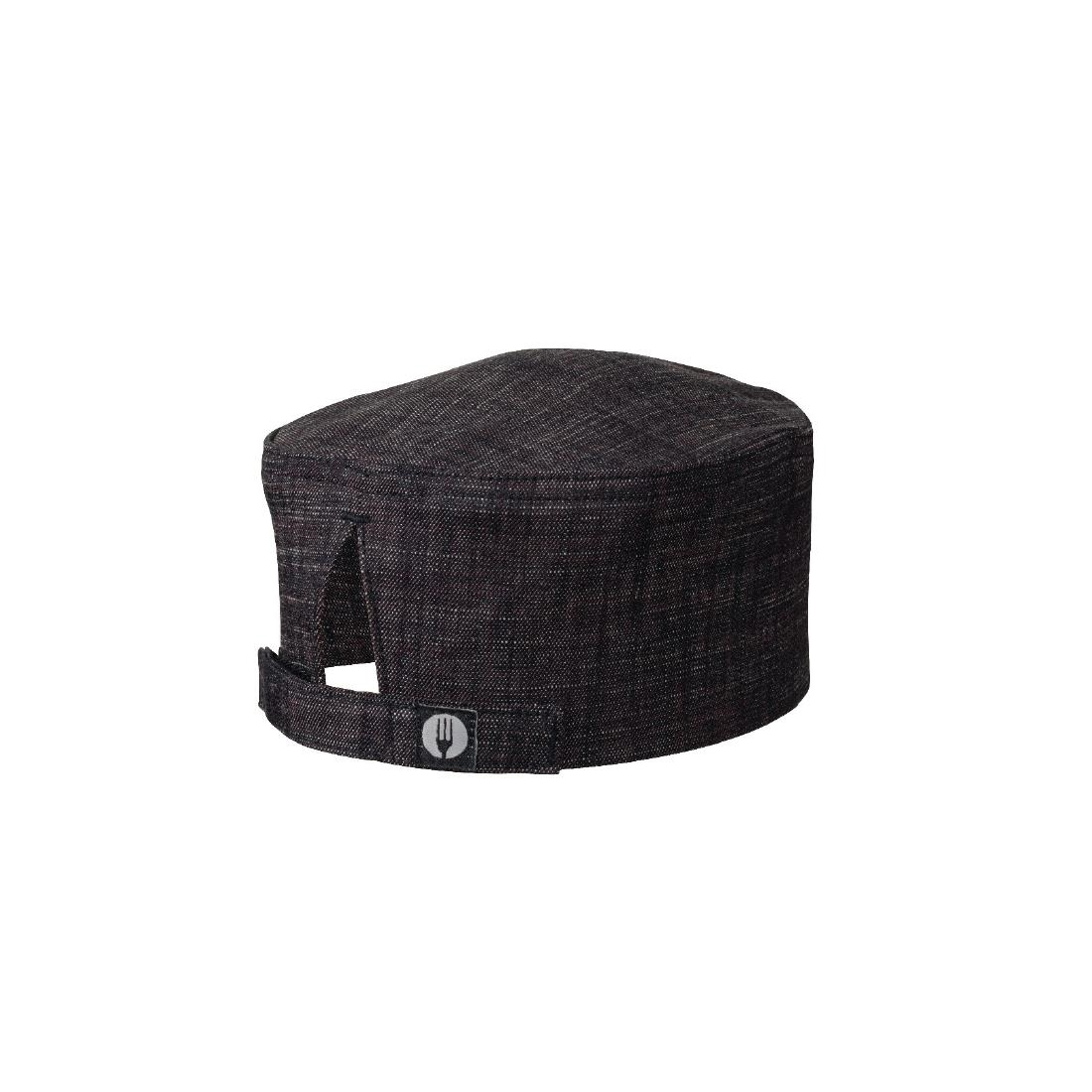 Image of Chef Works Corvallis Crosshatch Beanie Black and Burgundy