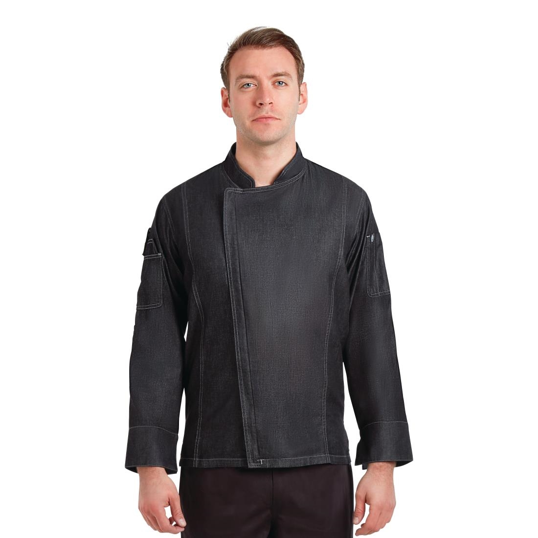 Click to view product details and reviews for Chef Works Urban Gramercy Unisex Denim Chef Jacket Black Xl.