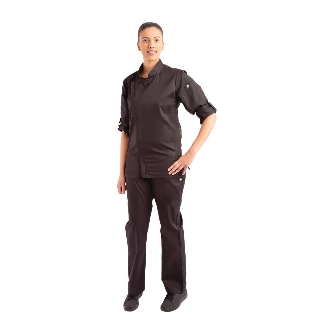 Click to view product details and reviews for Chef Works Hartford Lightweight Zipper Unisex Chef Jacket Black Xs.